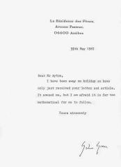 Graham Greene letter