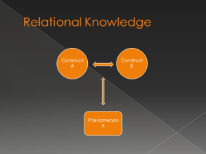 relational knowledge
