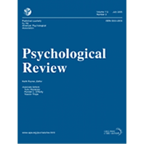 review of psychological article Psychological review ® publishes articles that make important theoretical  contributions to any area of scientific psychology, including systematic evaluation  of.